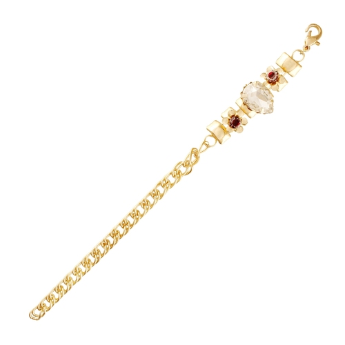 Single Line White Stone Beautiful Bracelet For Women