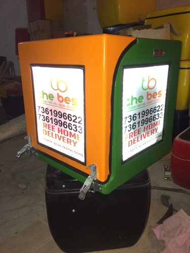 Night Motorcycle Delivery Boxes