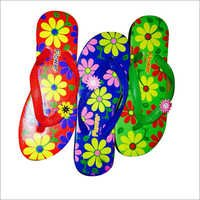 Flowers Print Ladies Hawai Slipper