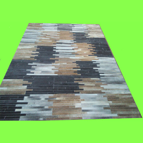 Leather Patch Work Carpet
