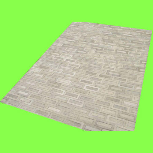 Natural Leather Patchwork Carpets