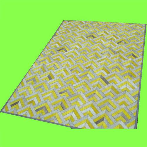 Leather Patchwork Flooring Carpet