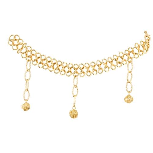 Dangle Drop Golden Bracelet For Women
