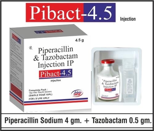 Piperacillin 4 gm +Tazobactum 0.5 gm