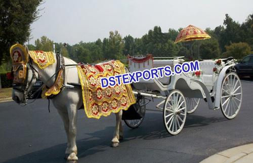 Victorian Wedding Horse Carriage