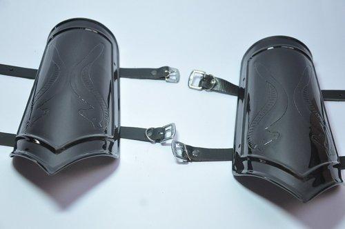 Medieval Black Steel Arm Guards