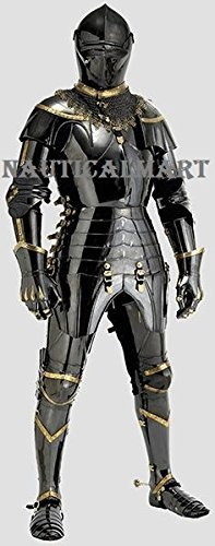 Black Antique Gothic Full Suit Of Armor
