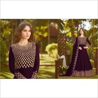 Purple Heavy Anarkali Suit