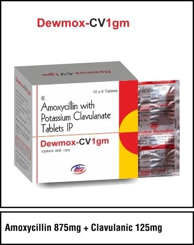 Amoxycillin 875 mg +Clavulanic 125 mg