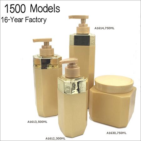 Golden Shampoo Bottle