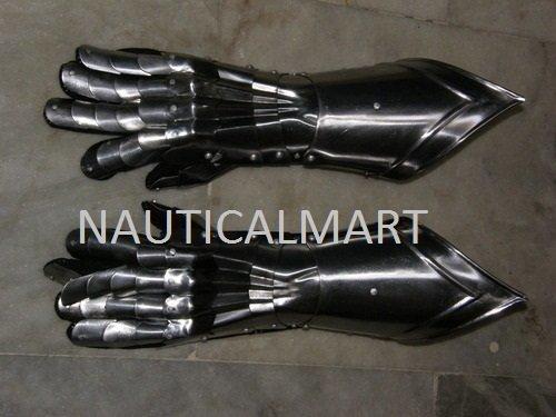Medieval Armor Solid Steel Gauntlets Set