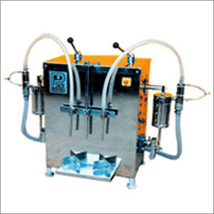 Semi Automatic Twin Head Liquid Filling Machine