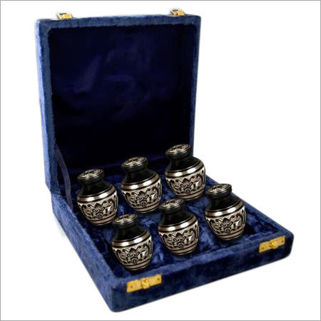 Black Engarved Keepsakes Urn