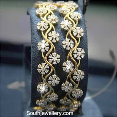 Gold Diamond Bangles