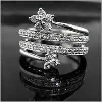 Silver Dimond Ring