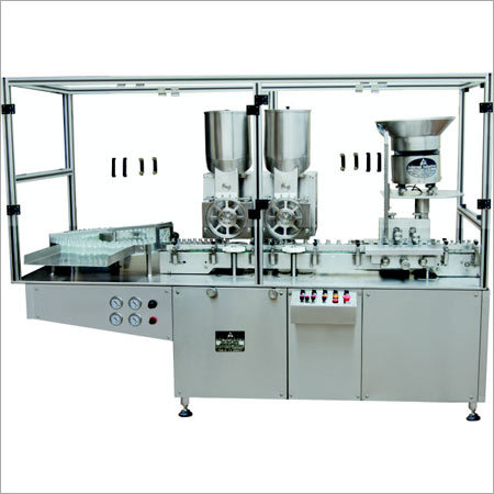Automatic Injectable Double Head Powder Filling Machine