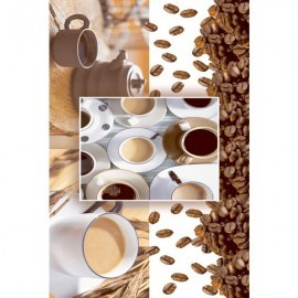 Digital Glossy Tile Coffee Beans