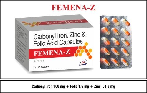 Carbonyl Iron + Folic Acid + Zinc