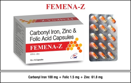 Carbonyl Iron + Folic Acid + Zinc
