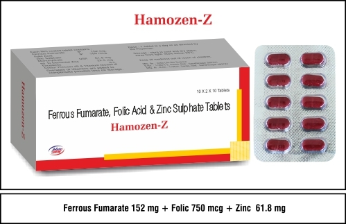 Ferrous Furnarate + Folic Acid + Zinc