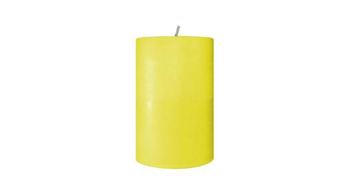 yellow pillar candle