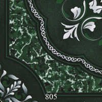 Black Glossy Printed Floor Tiles