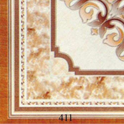 Corner Design Ivory Floor Tiles