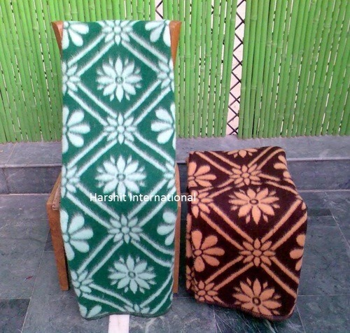 Jacquard Acrylic Woolen Blanket