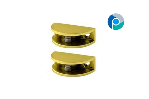 Brass Glass D Brackets