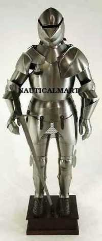 Medieval Knight Full Suit Of Armor Wearable Costume