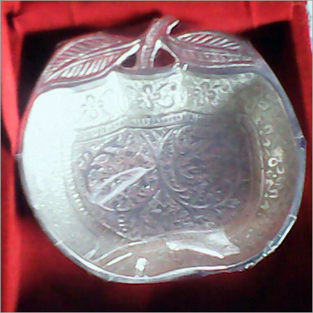 Silver Plated Apple Shaped Bowl