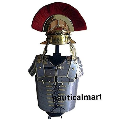 Roman Lorica Segmentata With Centurion Helmet Halloween Costume