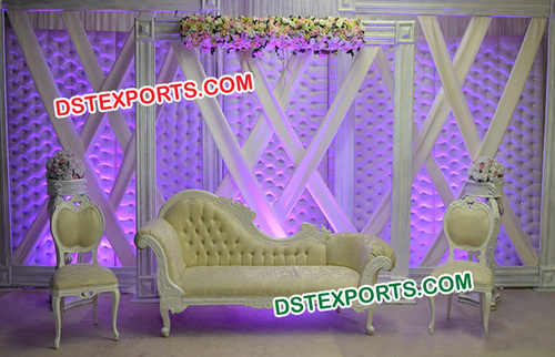 Victorian Asian Wedding Stage Decoration