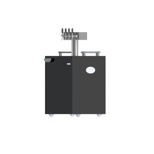 4 Tap Commercial Kegerator With Tower