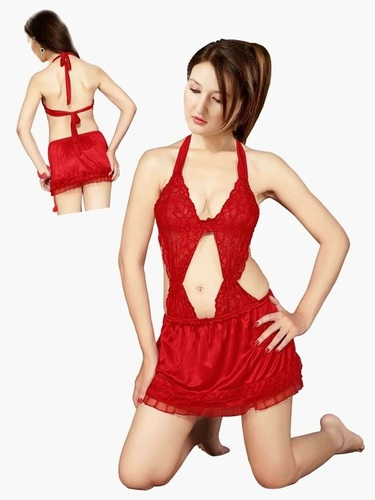 Hot N Sweet 31 A Red Short Nightwear