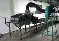 Vibratory screener feeder with Dust suction unit