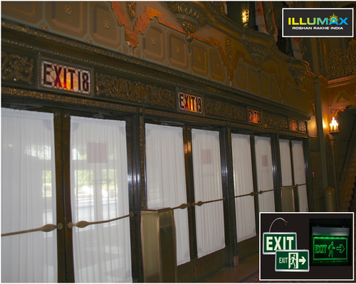 Exit Signs Concealed Type