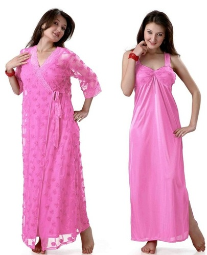 Hot N Sweet 9023 A Pink Two Piece Nighty.