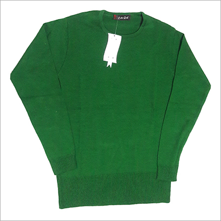 Green Plain Sweater