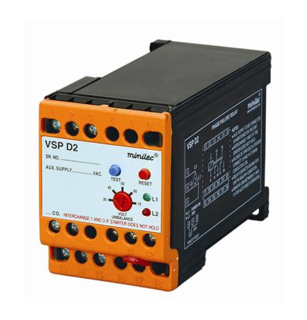 Minilec Phase Failure Relays VSP D2
