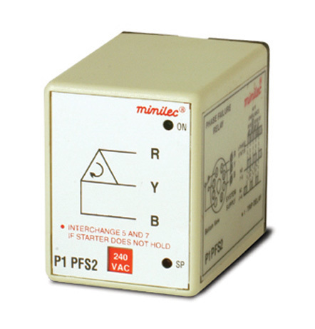 Minilec Phase Failure Relays P1 PFS2