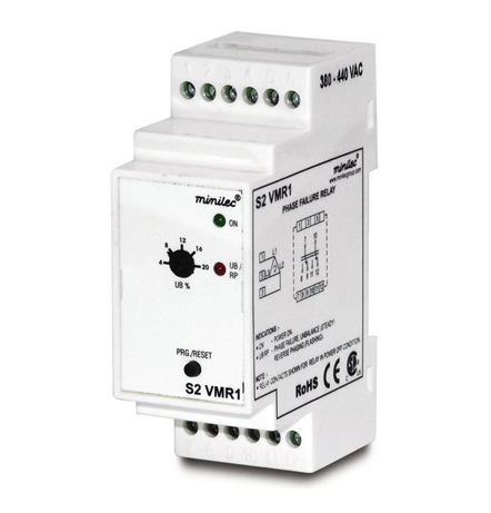 Minilec Phase Failure Relays S2 VMR1