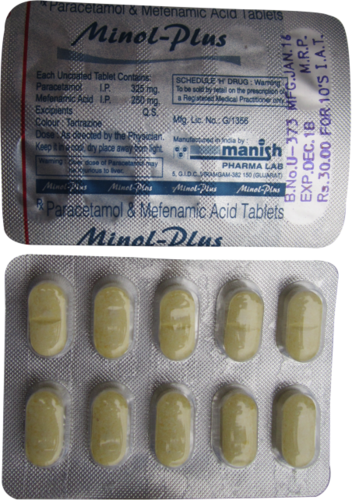 Mefenamic Acid 250 mg + Paracetamol 325 mg. Tab.