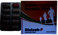 Diclofenac Potassiom + Paracetamol  Tablets.