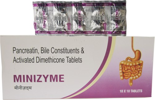 Pancreatin, Bile Constituents & Actibated Dimethicone Tablets