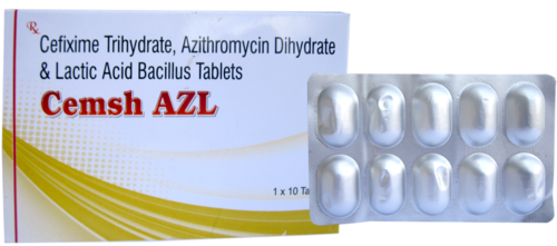 Cefixime Trihydrate, Azithromycin Dihydrate & Lactic Acid Bacillus Tablets