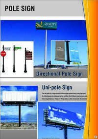 Directional Pole Sign