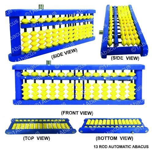 13 Rod Abacus Automatic Clearing