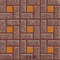 Orange Grey Square Floor Tiles