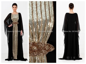 Sequin Embroidered Arabic Kaftans